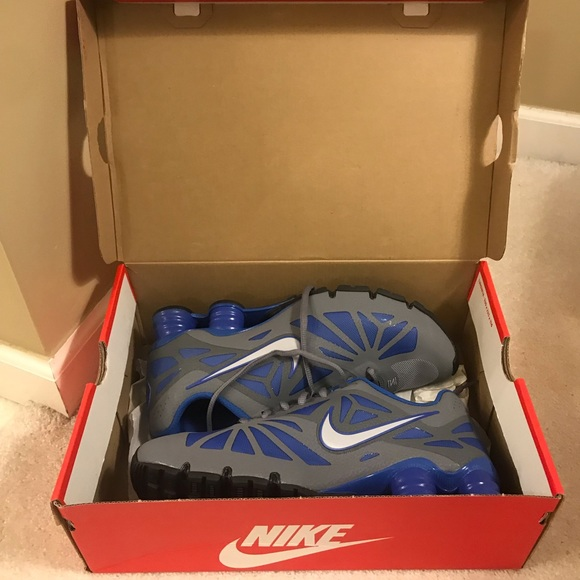 4fa5df889933 NWT Nike Shox Turbo 14 Gray and Blue Size 8.5 NIB